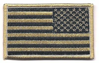Coyote Black / Tan United States US REVERSE Flag Patch VELCRO® BRAND Fastener