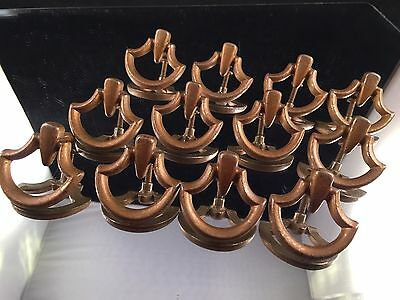 One Dozen (Set Of 12) Vintage Brass Drawer Pulls