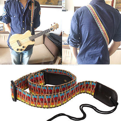 Adjustable Classic Guitar Soft Strap Cotton For Belt Electric Acoustic Bass Hot