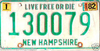 """1982 New Hampshire~130079 """"live Free Or Die"""" ~License Plate~Tag"""