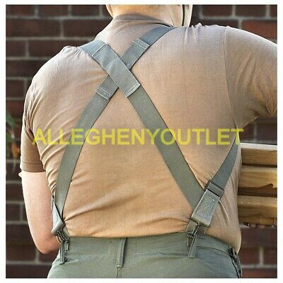 Lot of 2 US MILITARY ARMY M1950 Trouser Pant SUSPENDERS FOLIAGE BDU ACU DCU USAF