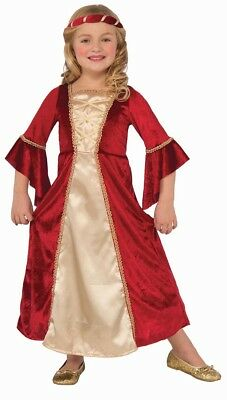 Scarlet Princess Renaissance Dress Child Girls Costume NEW