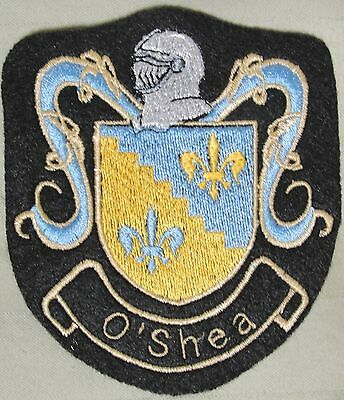 O'shea Coat Of Arms Embroidered Sew On Patch Or Frame For Display Great Gift