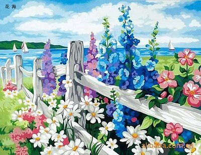 Oil Painting By Number DIY Digital Hand-painted Flower On Canvas Home Decor Wall