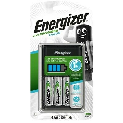Energizer Hour Charger With 4 AA 2300mAh Rechargable Batteries ENERCHARGER1HR