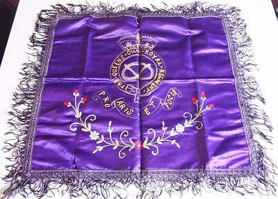 Antique WW1 The Queens Own Royal Regiment Silk Embroidered Panel - Patriotic
