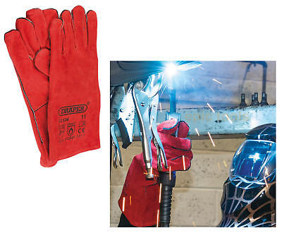 DRAPER 52336 Leather Welding Welders Fully Cotton Lined Hand Gauntlets Gloves