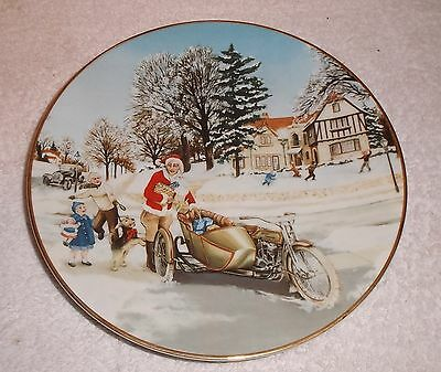 1992 Harley Davidson Christmas Plate w Box/Papers 1925 Surprise Visit