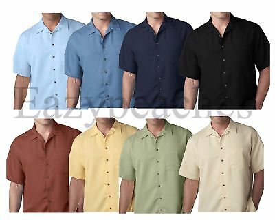 "UltraClub ""CUBAVERA STYLE"" Men's S-6XL Cabana Breeze Button Down Camp Shirt 8980"