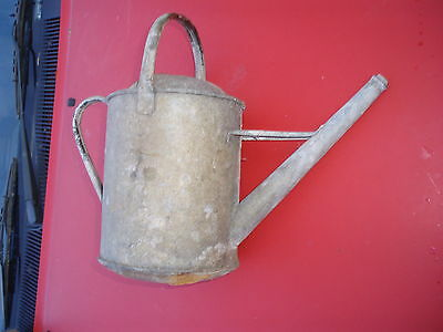Vintage 1 Gallon Galvinised Watering Can To Restore ??, Bottom Is Bowed