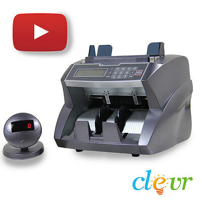 New Clevr Professional Bill Counter Fast Heavy Duty Money Counterfeit Detection