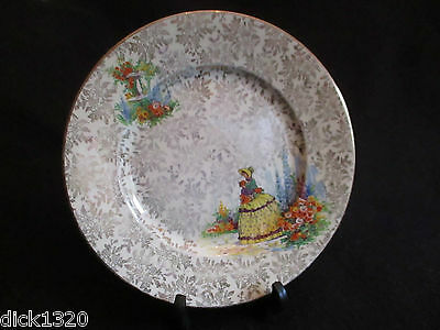 "VINTAGE EMPIRE PORCELAIN Co. CRINOLINE LADY 9.5"" DINNER PLATE c.40's/50's EX"