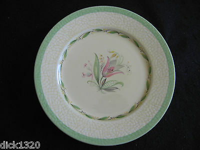 "ART DECO NEW HALL POTTERY PATTERN #1092 8"" SALAD/LUNCHEON PLATE  c.30's"
