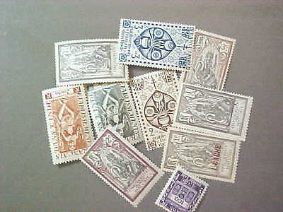 10 Different French India Stamp Collection - Lot
