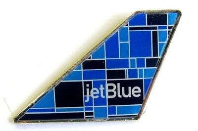 10360 Jetblue Jet Blue Mosaic Airlines Airways Aviation Plane Tail Pin Badge