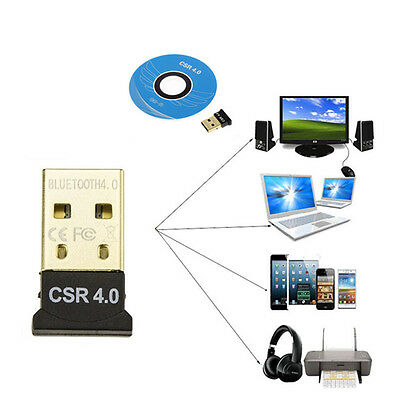 Mini Wireless USB Bluetooth 4.0 Adapter Dongle For PC Laptop Win XP Vista7/ 8/10