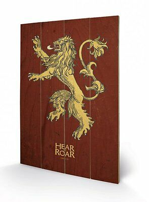 Game Of Thrones Lannister Wooden Wall Art Officially Licensed