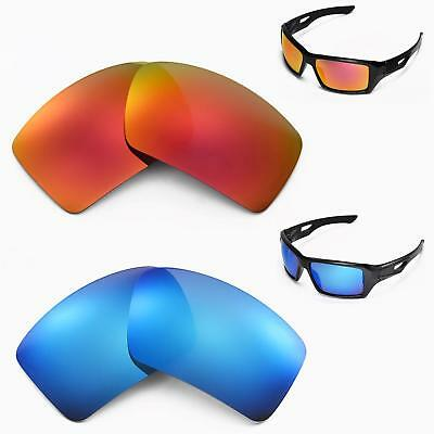 30f8bc2ca2e Walleva Polarized Fire Red + Ice Blue Replacement Lenses For Oakley  Eyepatch 2