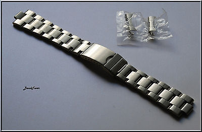 21mm Curved End OYSTER Solid Stainless Steel Watch bracelet, Band, Screws Links