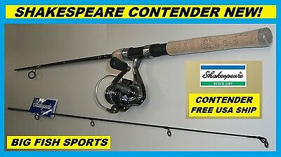 "SHAKESPEARE 6'6"" CONTENDER Fishing Spinning Combo NEW #CONT23066CBO FREE US SHIP"