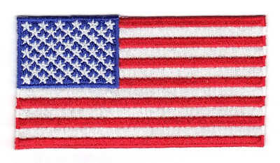 United States Of America USA Embroidered Country Flag Iron On Emblem Patch Team