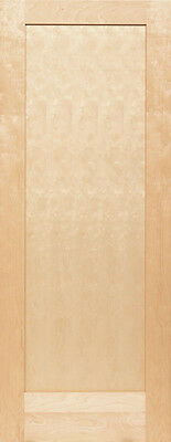 Birch 1 Panel Flat Mission Shaker Stain Grade Solid Core Interior Wood Doors