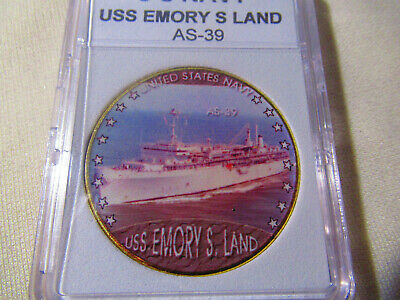 US NAVY - USS EMORY S LAND / AS-39 Challenge Coin