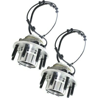 Set Of 2 Front Wheel Hubs With Bearings Fits Excursion F250 F350 Super Duty 4x4
