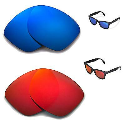 f8f9064ed0 New Walleva Polarized Fire Red + Ice Blue Lenses For Ray-Ban RB4105 50mm