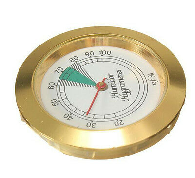 Medium Round Analog Hygrometer Humidity Gauge Humidor Diameter high accuracy