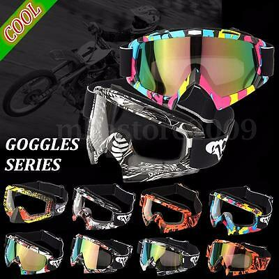 Transparent/Colored lens Motorcycle Motocross Off-Road Dirt Riding Bike Goggles