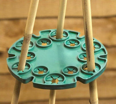 Wigwam Cane Grip Support Bamboo Sticks Holder Sweet Pea Bean Plant 12 holes NEW