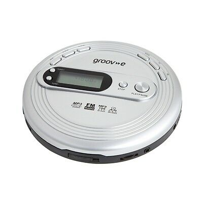 New Groov-e Retro Series Personal Portable CD Player with Radio - Silver