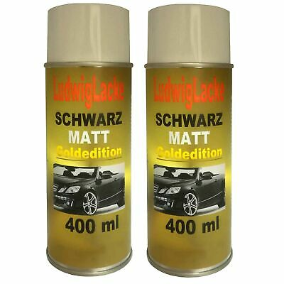 schwarz matt 2x spraydose autolack schwarz matt 400ml. Black Bedroom Furniture Sets. Home Design Ideas