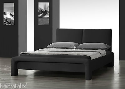 Stunning Modern Designer Double or King size Faux Leather Bed *UNIQUE DESIGN*