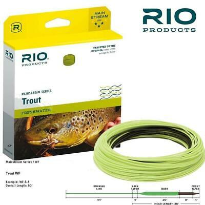 RIO MAINSTREAM NEW WF-6-S6 TYPE 6 FULL SINK SINKING #6 WT WEIGHT FLY LINE