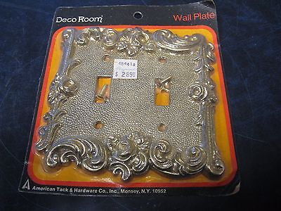 Vintage American Tack & Hardware Decor Room Dual Metal Light Switch Cover NOS