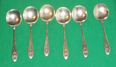 Sears Roebuck Torch Shield Garland Silver Plate Bullion Soup Spoon Table Decor