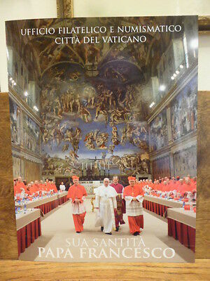 Vatican Folder beginning Pontificate Pope Francis 2 envelopes 2013