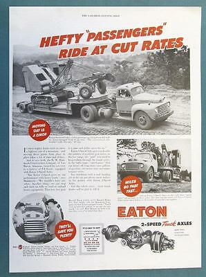 Original 1951 Eaton Ad Photo Endorsed R. W. Hammock of Van Buren Arkansas