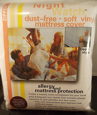 """Bed Bug Plastic Mattress Cover Protector--Queen 15"""" Height-Dust Free With Zipper"""