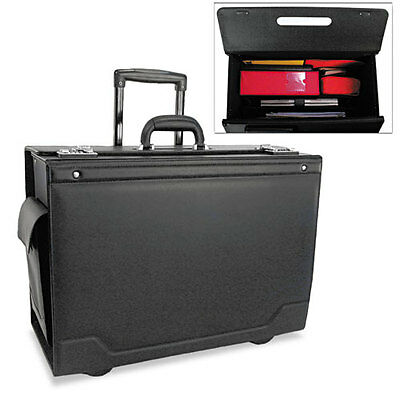 STEBCO Wheeled Catalog Case, Leather-Trimmed Tufide, 21-3/4 x 15-1/2 x 9-3/4, Bl