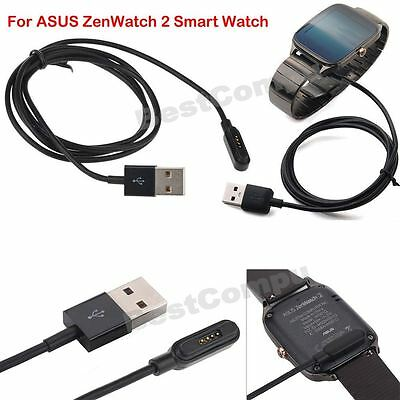 For Asus ZenWatch 2 Smart Watch USB Magnetic Faster Charging Cable Charger 100CM