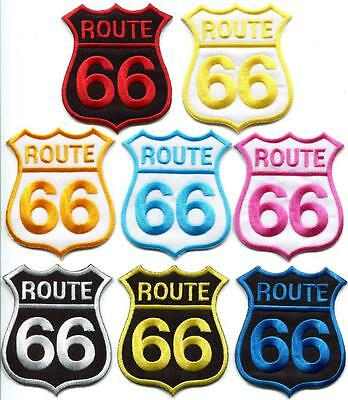 Route 66 retro muscle cars americana applique iron-on patch new your choice RT-2