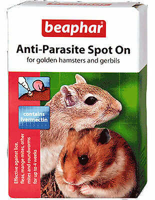 Beaphar Anti-Parasite Spot On Small Animals - Hamsters & Gerbils - 4 Pack