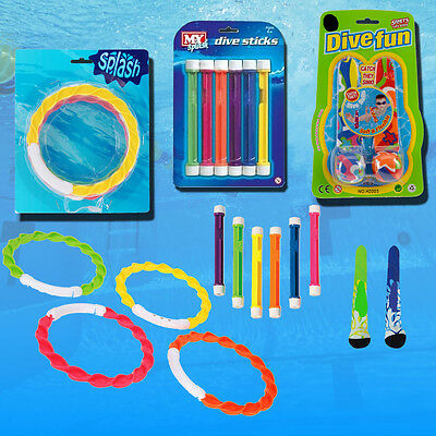 Underwater Toys Swimming Pool Dive Balls Rings Weighted Sticks Swim Water Games