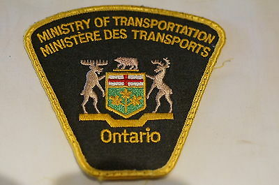 Canadian Ontario Ministry Of Transportation Ministere des Transports Patch 2