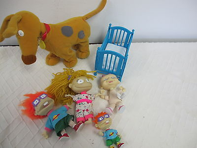 Rugrats Dolls Figures Chuckie Angelica Lil Spike Battery Operated Walking Dog