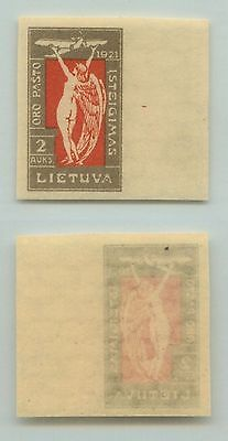 Lithuania, 1921, SC C13, MNH, imperf. d5386