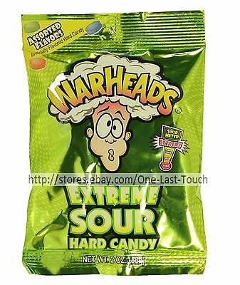 WARHEADS^* 2 oz Bag Hard Candy EXTREME SOUR Assorted Flavors CANDIES Exp. 11/18+